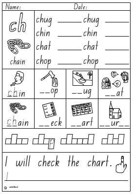 Activity Sheet- Digraph ch (ch Activity Sheet)