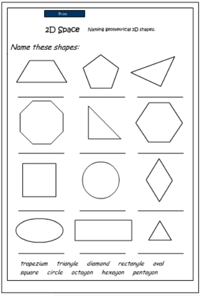 Hd Wallpapers 2d And 3d Shape Sorting Worksheets