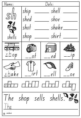 Sh Worksheets http://www.studyladder.com/learn/literacy/activity/20338