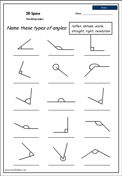 Naming Angles Worksheets on angles measuring worksheet