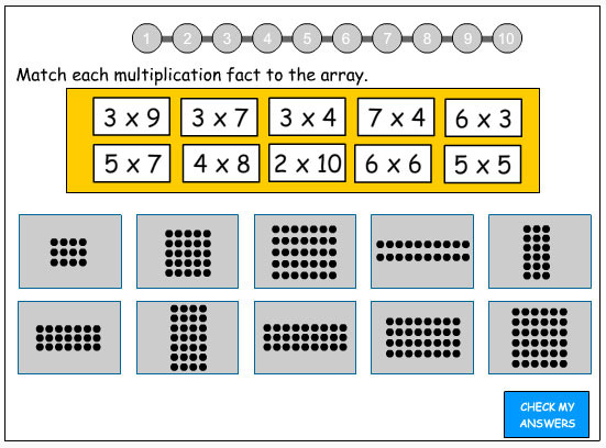 Array Worksheets – Multiplication with Arrays Worksheets