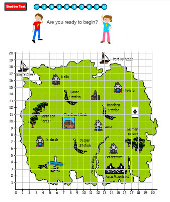 Free access to Using Coordinates to Read a Map skills online, access ...