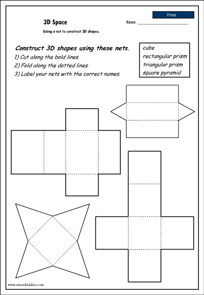 3d Nets Worksheet - Synhoff