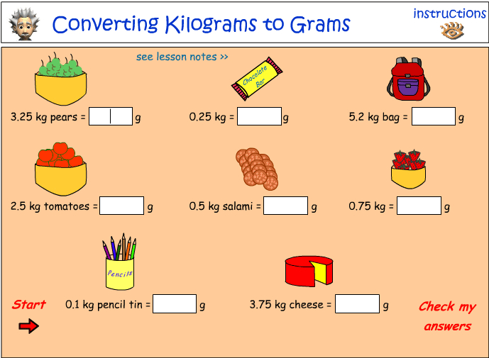 Gram And Kilogram Conversion Chart on grams and kilograms worksheet