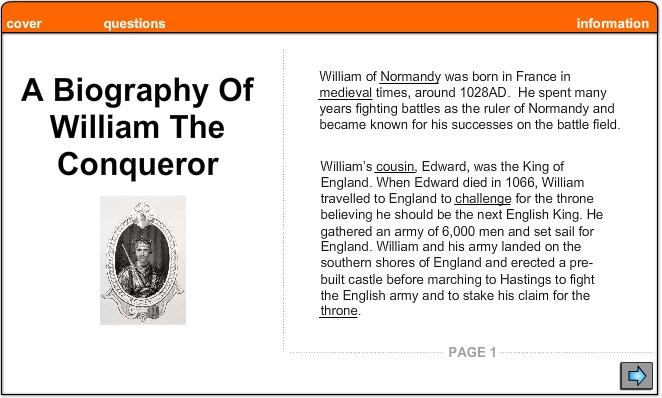 a biography of william i the conqueror William the conqueror (french: guillaume le conquérant) (circa 1028 – 9 september 1087), an aa kent as william i o ingland (guillaume ier d'angleterre) an.