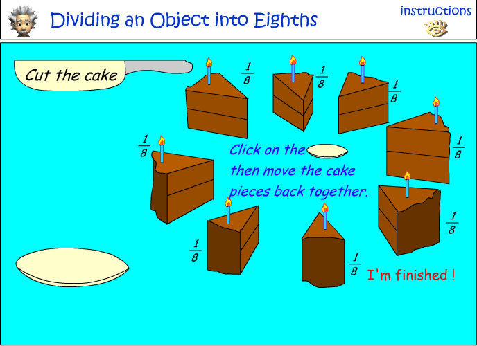 Fractions cake
