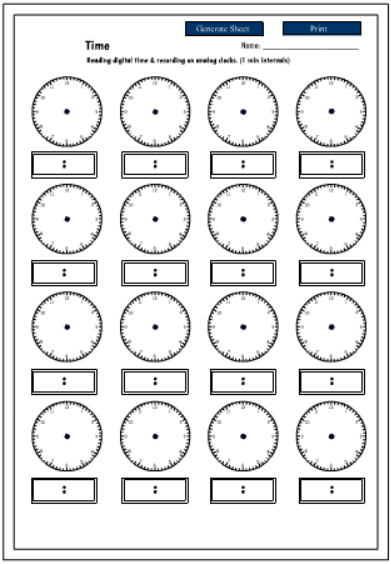 telling time worksheets 24 hour clock