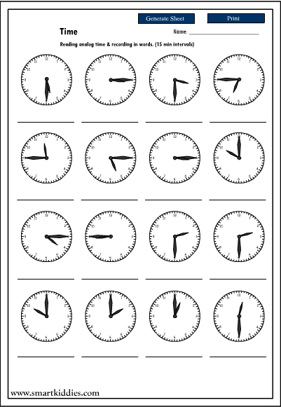 Time Worksheets time worksheets quarter past : what time is it quarter to