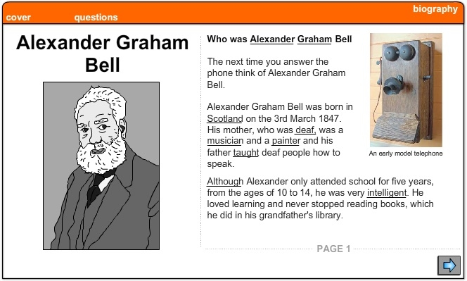a biography of alexander graham bell the inventor of the telephone Bell was a famous inventor he was born in edinburgh, scotland on march 3,  1847  why did alexander graham bell invent the telephone this is quite an .