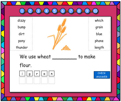 Jumbled Letters Phonics Revision