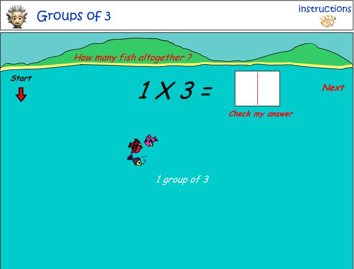 Groups of three