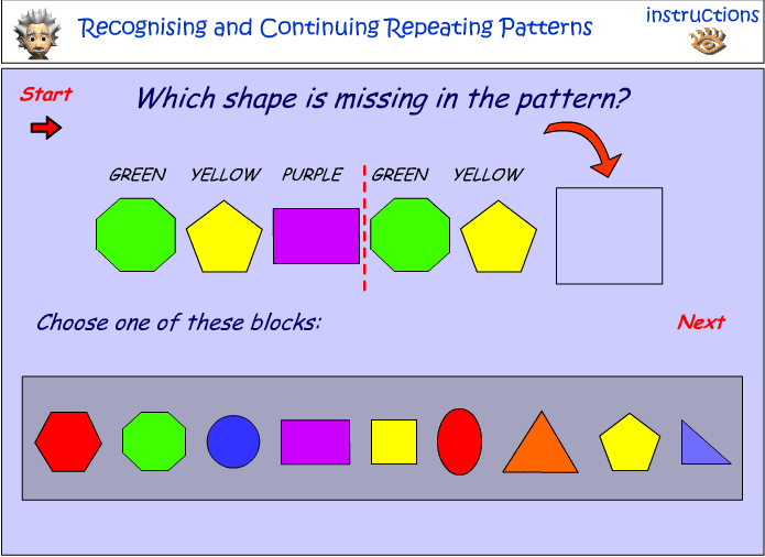 Recognizing and continuing repeating patterns