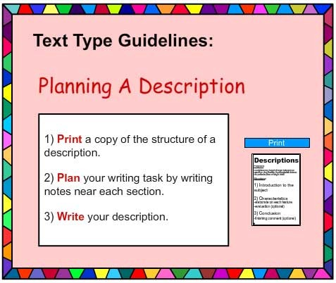 descriptive writing poster english skills online interactive  descriptive writing poster english skills online interactive activity lessons