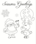 Christmas Card Santa (1 page)