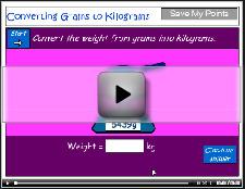 Converting grams to kilograms - includes decimals tutorial