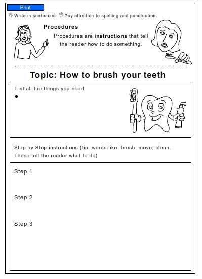 procedure how to brush your teeth english skills online interactive activity lessons. Black Bedroom Furniture Sets. Home Design Ideas