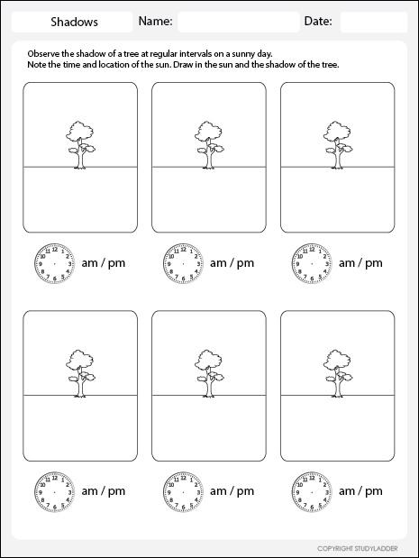recording shadows worksheet studyladder interactive learning games. Black Bedroom Furniture Sets. Home Design Ideas