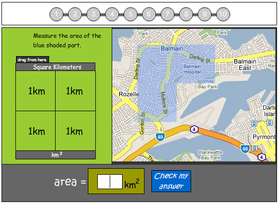 Calculating Square Kilometers Using a Scale