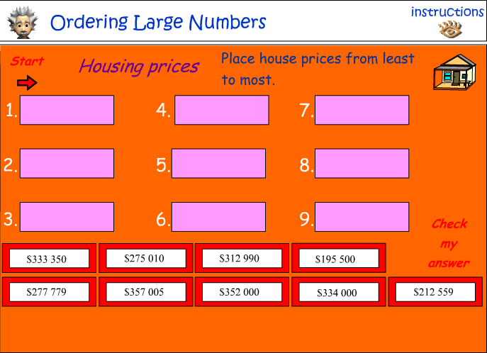 Ordering large numbers No:2