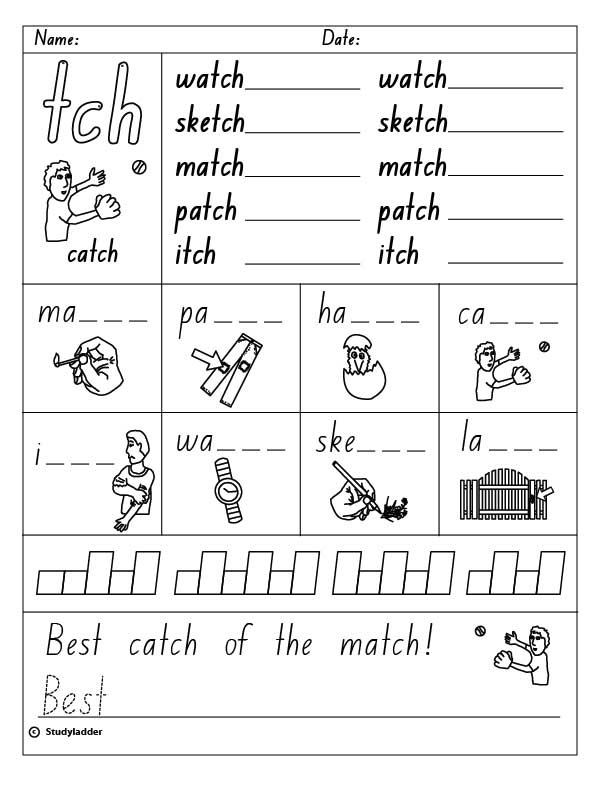 Printables List Of Words With Tch trigraphs final tch english skills online interactive activity lessons