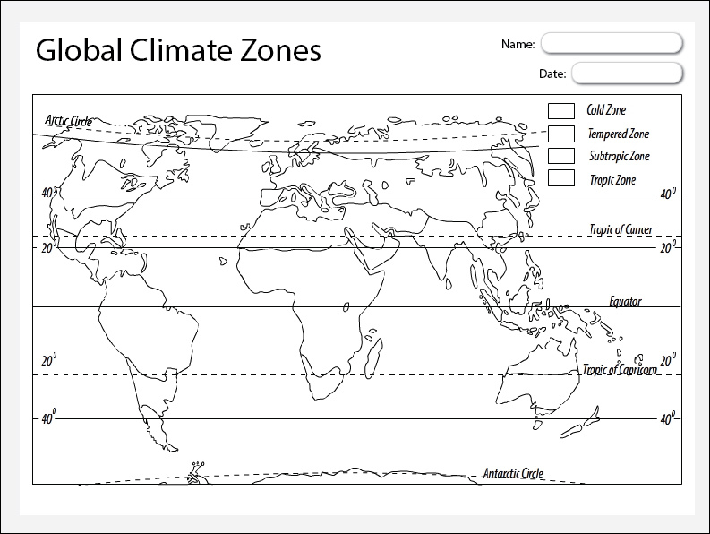 Global Climate Zones Map - Studyladder Interactive Learning ...