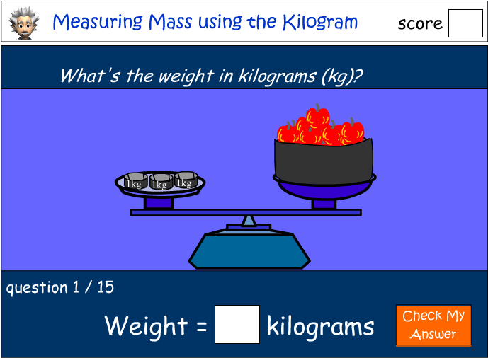 Measuring mass using the kilogram (kg)