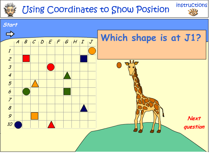 Using coordinates to show position - part 2
