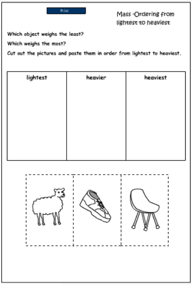 lighter or heavier kindergarten worksheets lighter best free printable worksheets. Black Bedroom Furniture Sets. Home Design Ideas