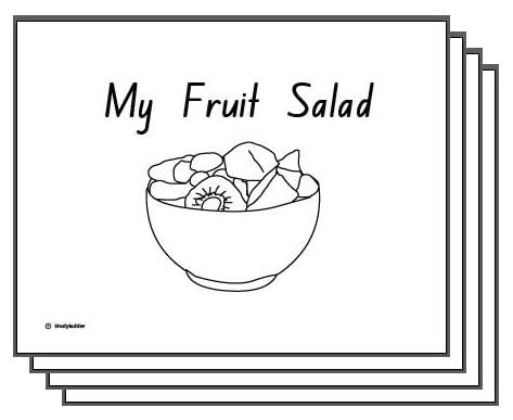 Colouring Pictures Of Fruit Salad : My Fruit Salad A4 Teacher s Booklet, English skills online, interactive activity lessons