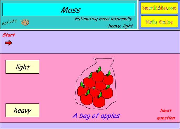 Mass language - comparing between light and heavy