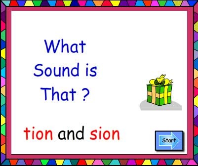 Suffixes tion and sion