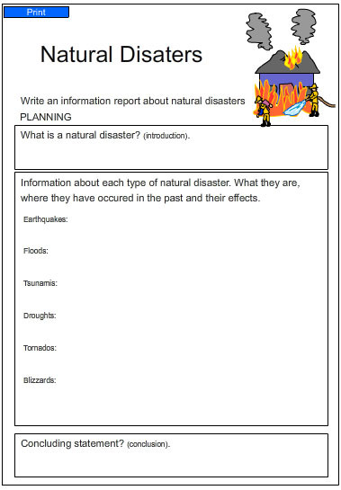 Natural Disasters, English skills online, interactive ...