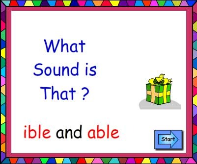 Suffixes ible and able