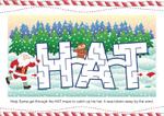 Santa Hat Maze (1 page)