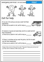 Call Emergency Services Printable - Studyladder Interactive