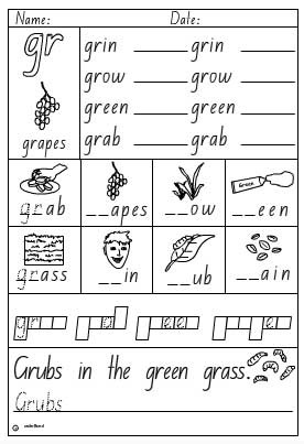 consonant blends fl worksheets consonant blends worksheet one of four kids learning. Black Bedroom Furniture Sets. Home Design Ideas