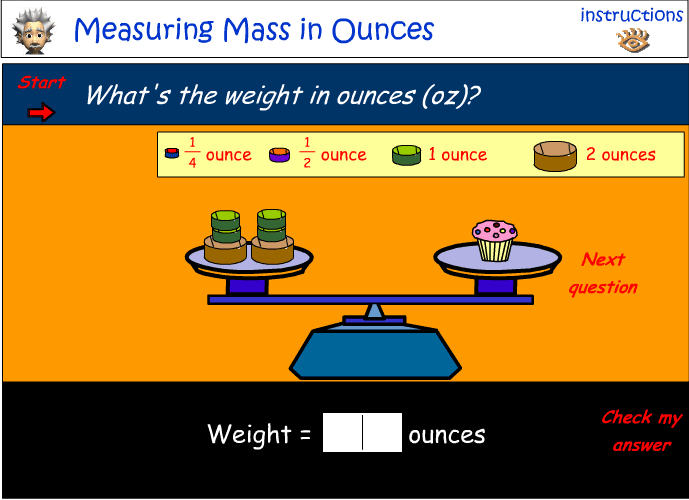 Now using US units - Measure mass using ounces