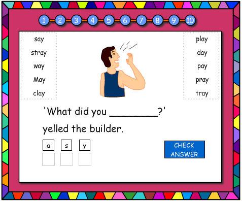 Jumbled Letters 'ay'