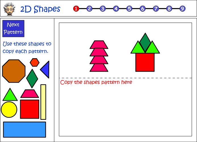 Copying a design using 2D shapes