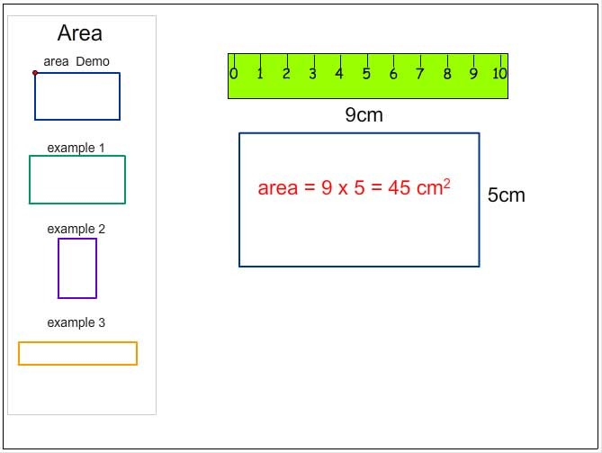 Calculating the Area of Rectangles in Square Centimetres