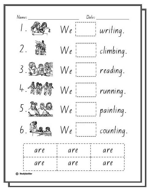 We Are At School -Student Activity Sheets - Studyladder ...