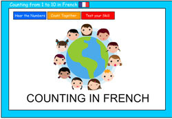 Lets count in french