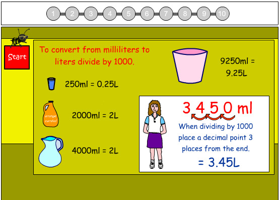 Convert Milliliters to Liters