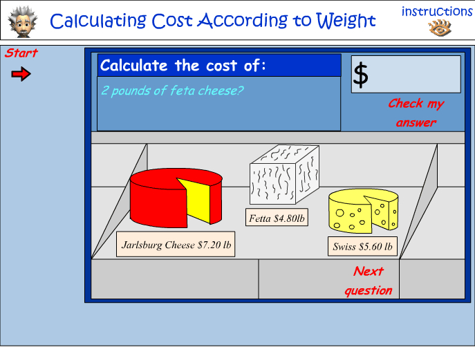 Calculating cost according to weight - US units