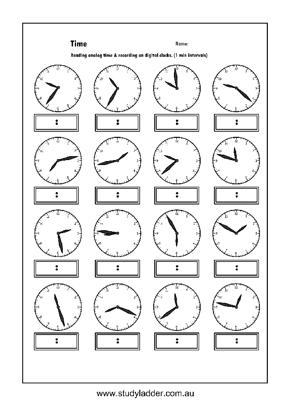 recording analog time in digital format  mathematics