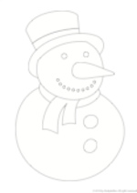 Decorate a Snowman (1 page)
