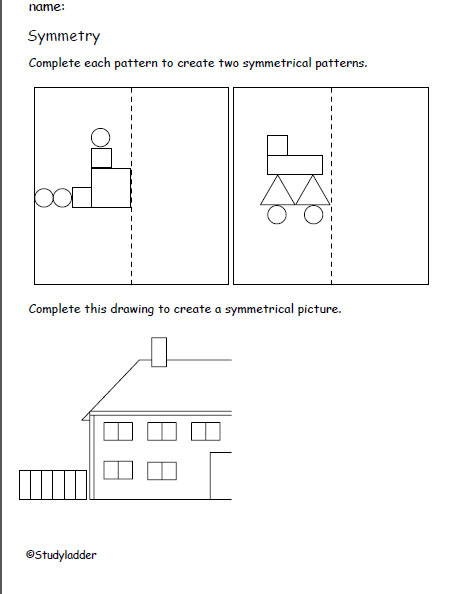 Create symmetrical patterns, Mathematics skills online ...