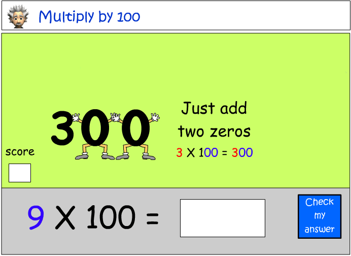Multiplying by 100