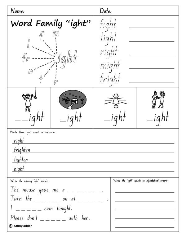 Worksheets Ight Words Worksheet ight word family worksheets pixelpaperskin words worksheet karibunicollies
