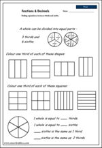 Equivalence - halves, quarters and eighths, Mathematics skills ...
